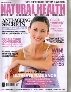 Natural Health magazine featuring Maxine Harley - Jan 2014
