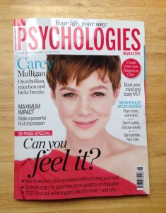 Psychologies mag June 2015 - featuring Maxine Harley